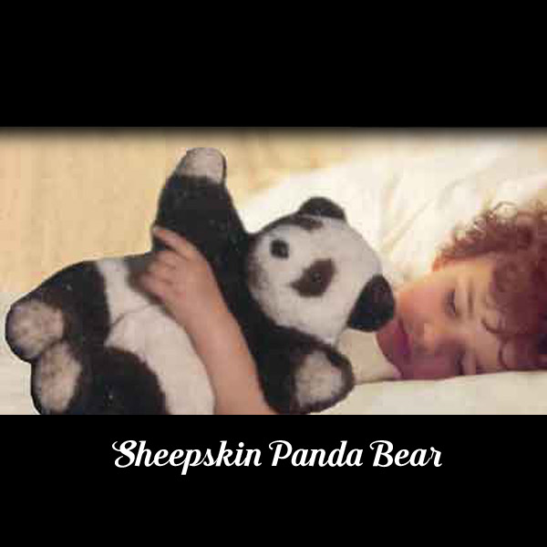 sheepskin panda bear by ewe2you.com